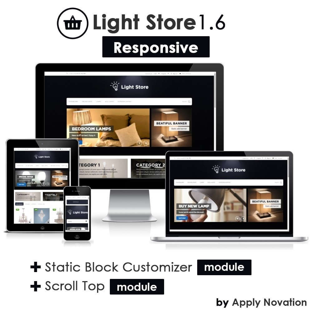 theme - Dom & Ogród - Light Store 1.6 Responsive - 1