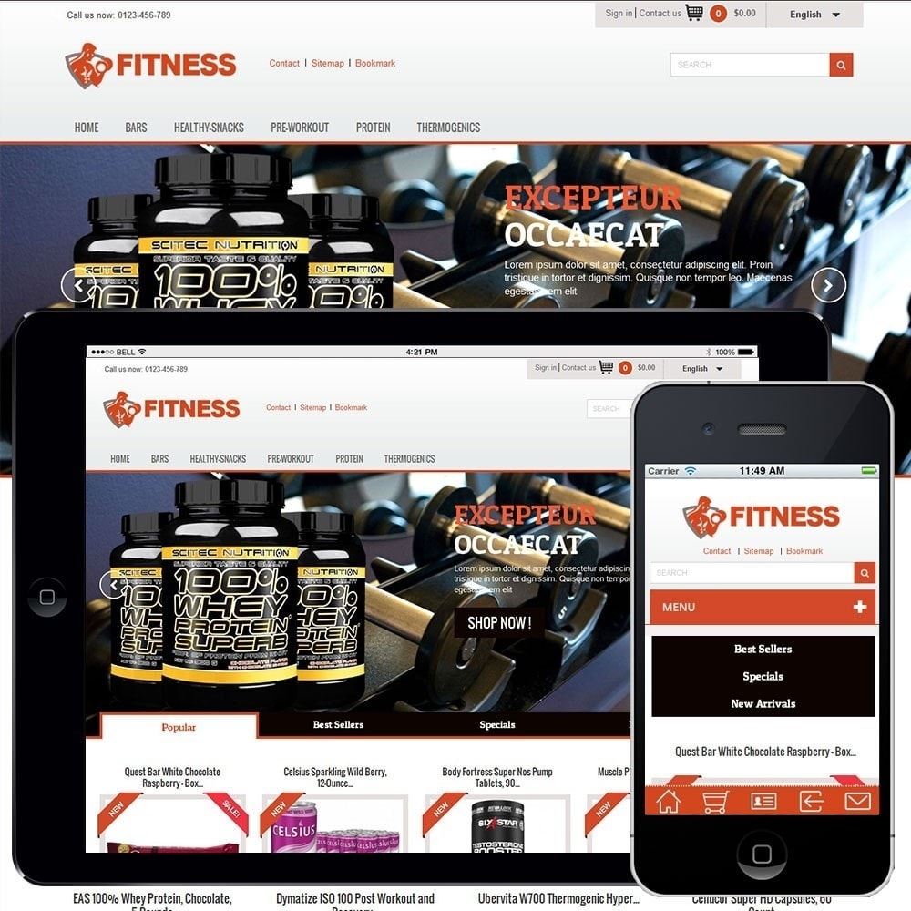 theme - Alimentos & Restaurantes - Fitness Light 1.0. - 1
