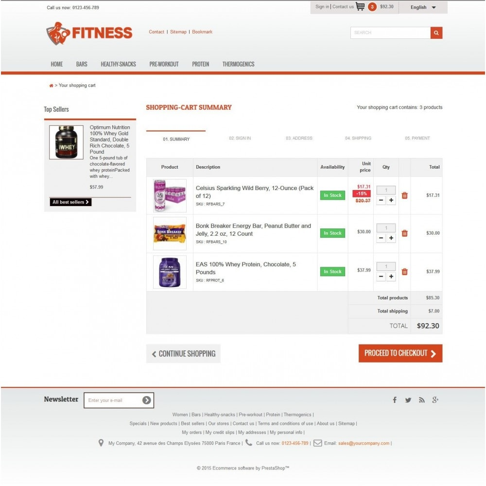 theme - Alimentation & Restauration - Fitness Light 1.0. - 5