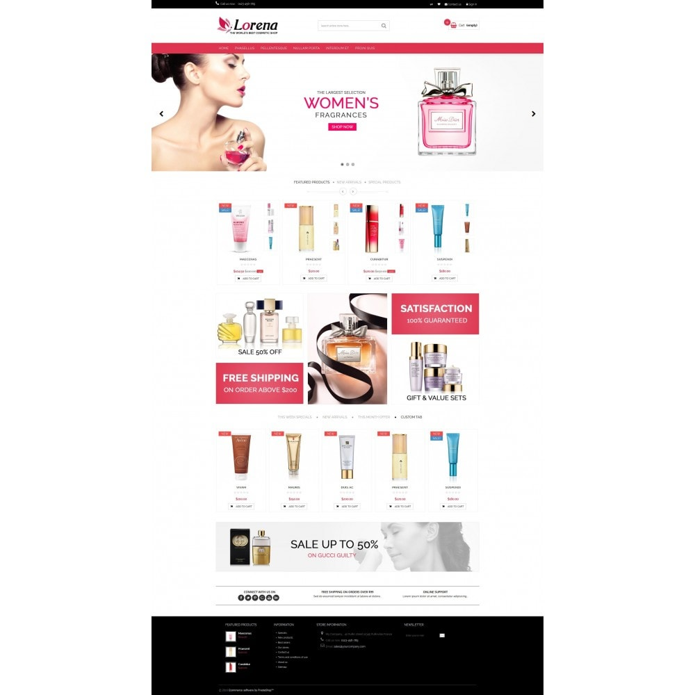 theme - Salute & Bellezza - Lorena Cosmetic Shop HTML5 - 2