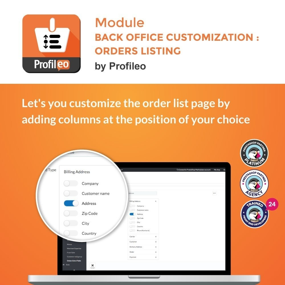 module - Order Management - Back Office customization : Orders listing - 1