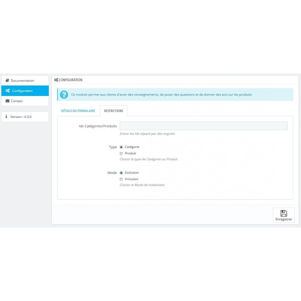 module - Form di contatto & Questionari - Information on product before purchase - 3