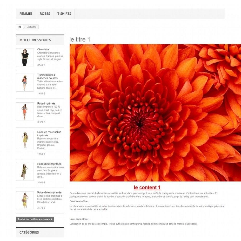 module - Blog, Forum & Actualités - Actualités dans votre boutique - 7