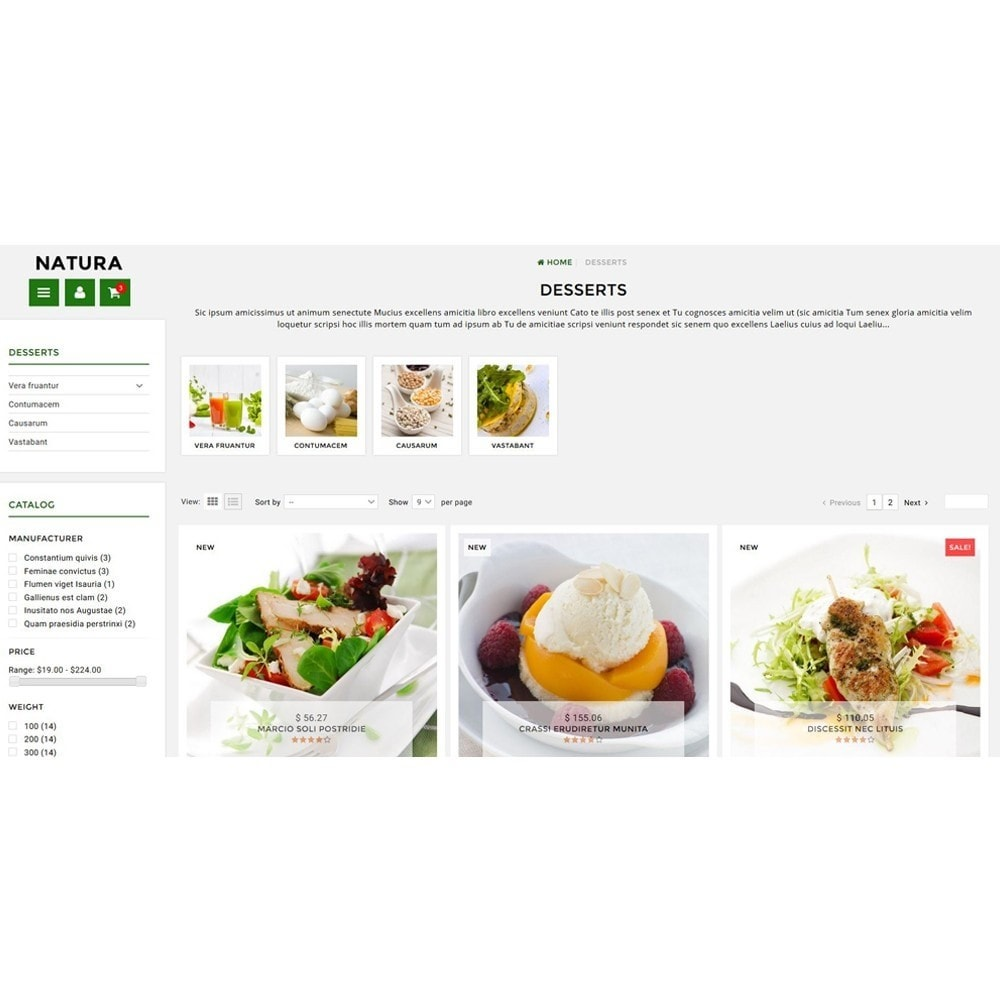 theme - Food & Restaurant - Natura - 3