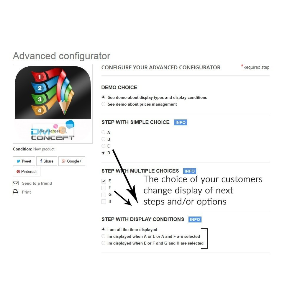 module - Combinations & Product Customization - Advanced configurator for customized product - 3
