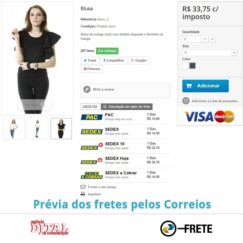 module - Vervoerder - Shipping cost calculation by the Brazilian Correios - 5