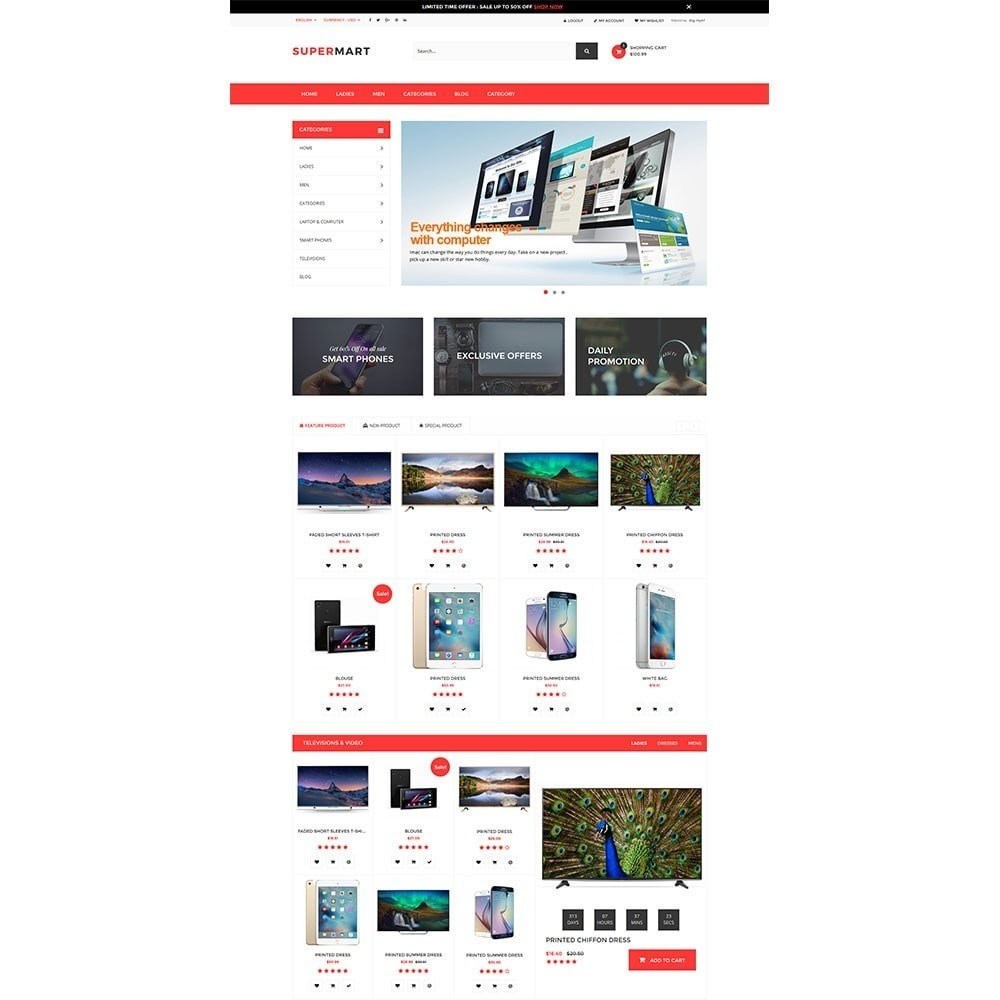 theme - Электроника и компьютеры - Supermart Hightech Responsive - 2