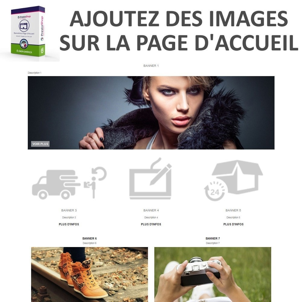 module - Personnalisation de Page - Bannières Page d'Accueil - Ajouter Images sur l'Accueil - 2