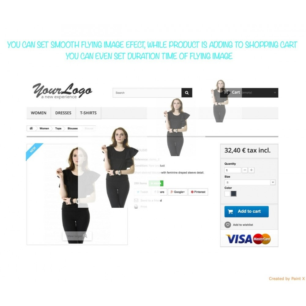 module - Registratie en Proces van bestellingen - Add To Cart Fly Effect, Hide Popup and Other Animations - 1