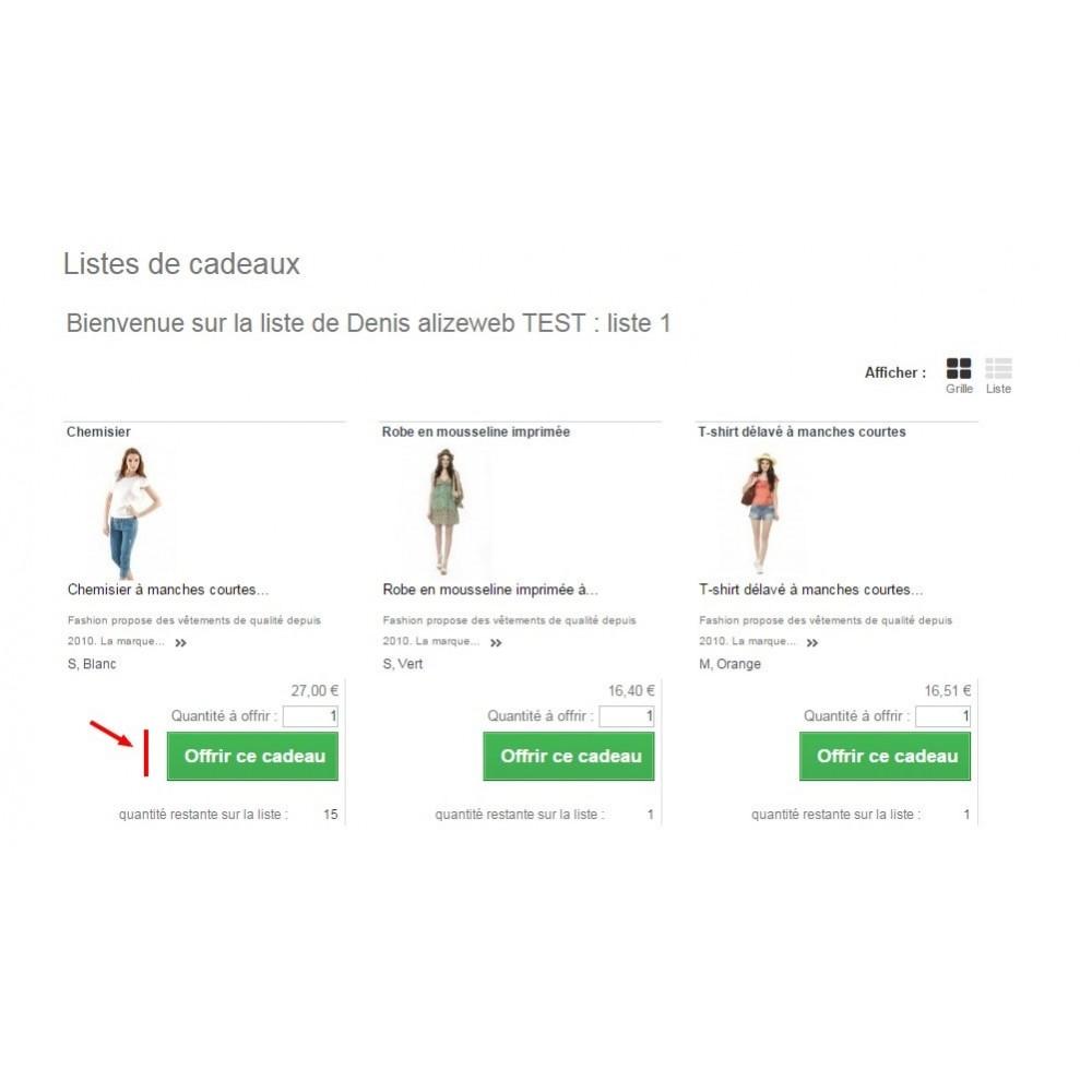 module - Liste de souhaits & Carte cadeau - Wishlist PRO - 4