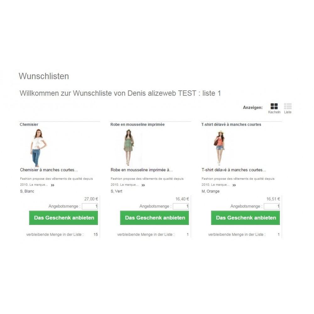 module - Wunschzettel & Geschenkkarte - Wishlist PRO - 4
