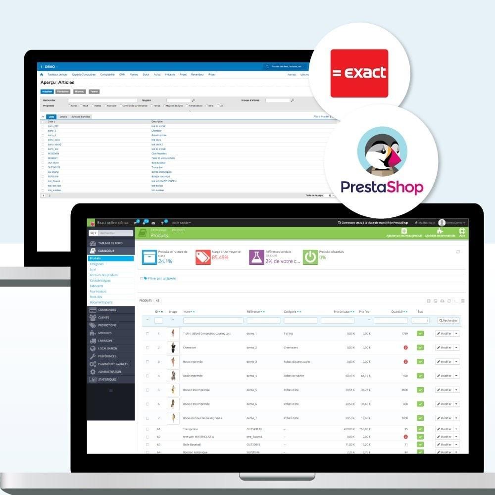 module - Connexion à un logiciel tiers (CRM, ERP...) - Exact PRO (ERP, Comptabilité, CRM) - 2