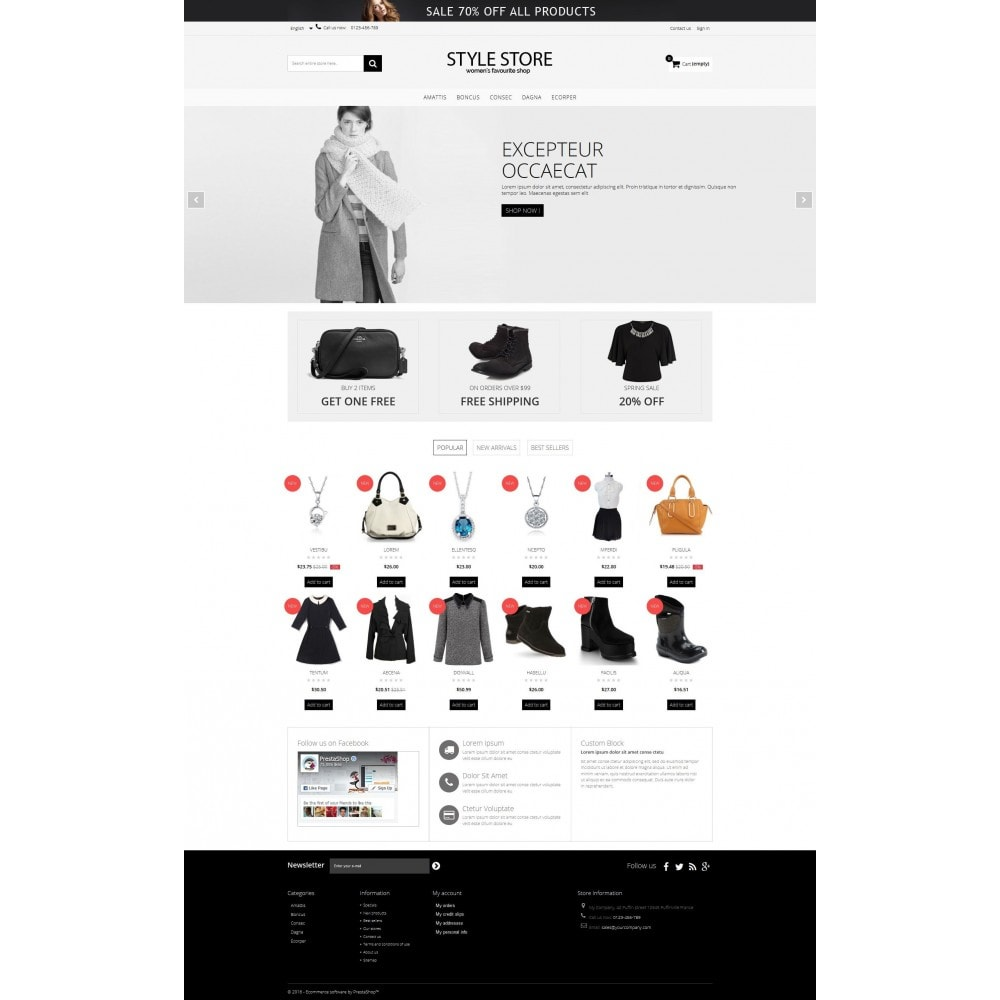 theme - Mode & Schoenen - Style Fashion Store HTML5 - 2
