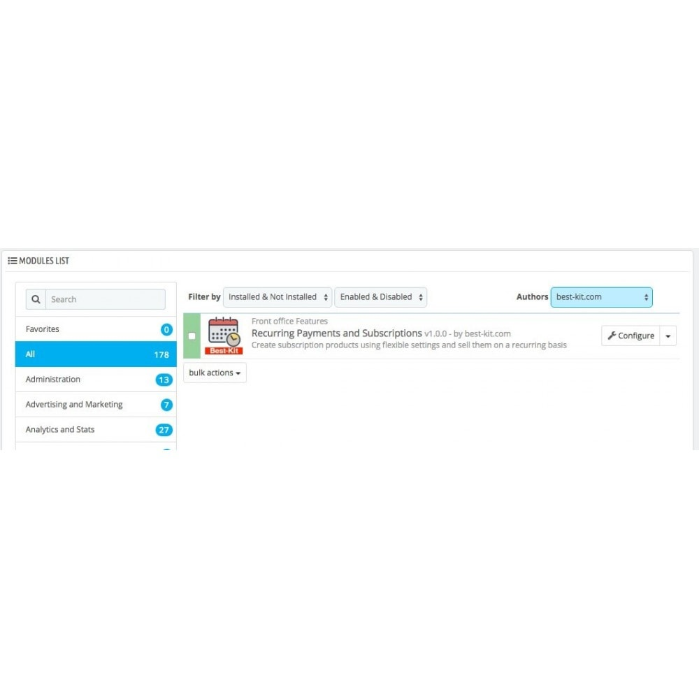 module - Pagamento ricorrente (abbonamento) - Recurring Payments and Subscriptions - 1