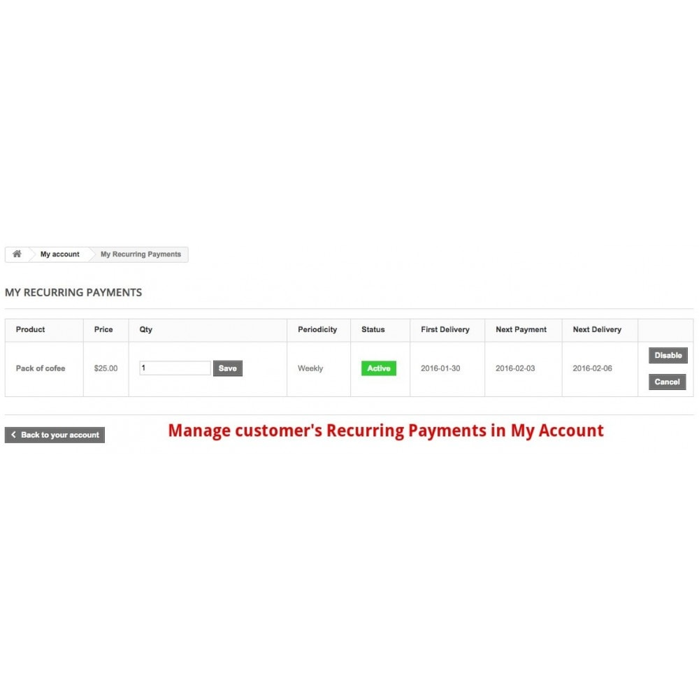 module - Pagamento ricorrente (abbonamento) - Recurring Payments and Subscriptions - 8