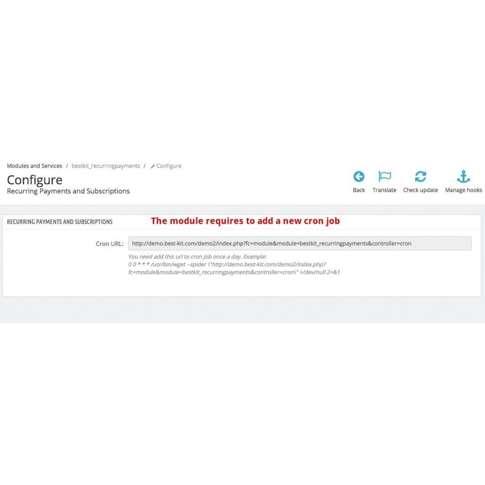 module - Pagamento ricorrente (abbonamento) - Recurring Payments and Subscriptions - 13