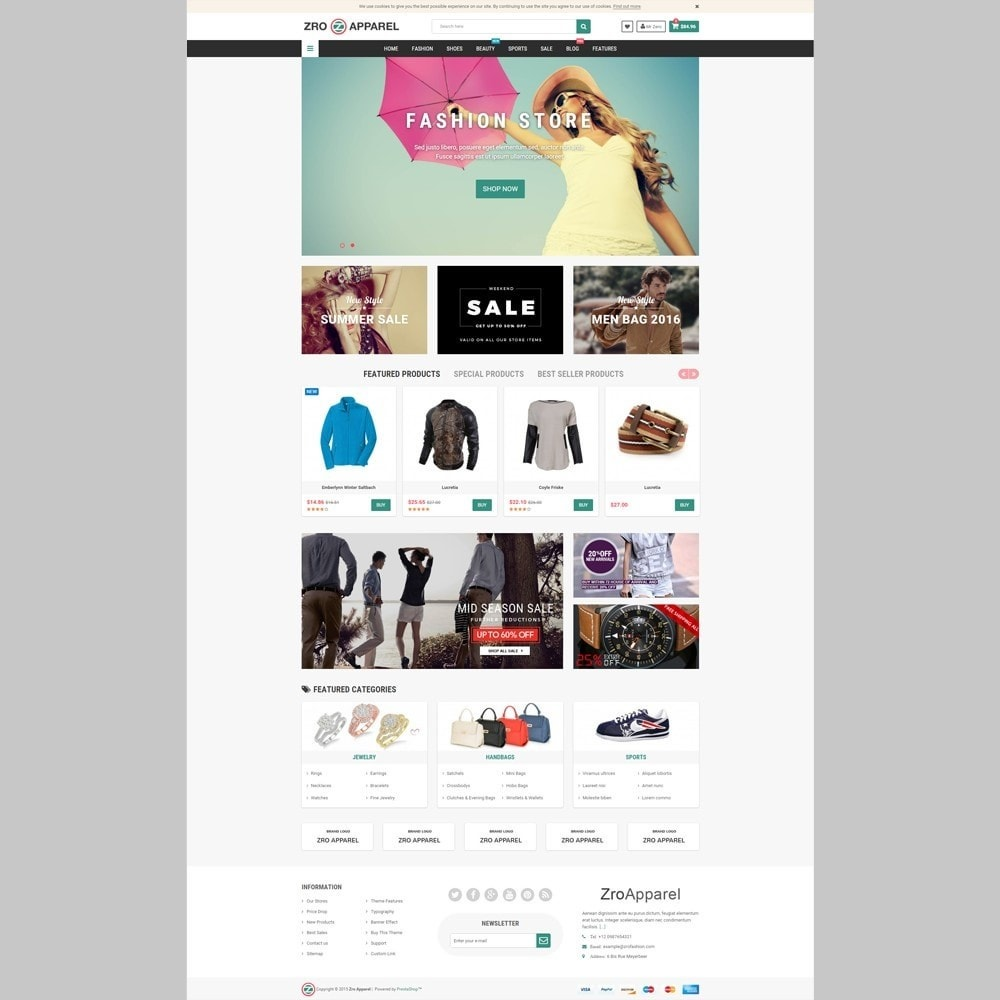 theme - Fashion & Shoes - Zro13 - Fashion Store - Shop Online for Fashion - 2