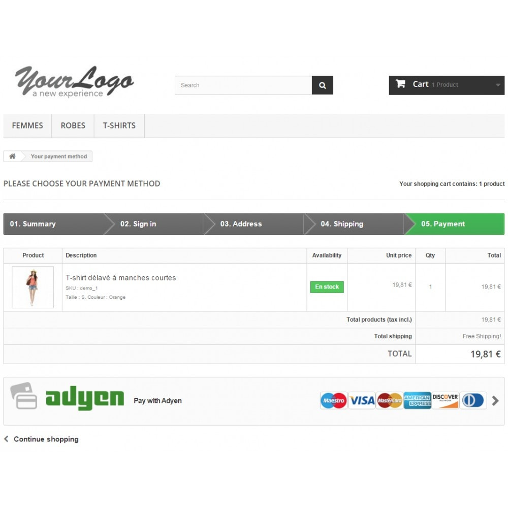 module - Payment by Card or Wallet - Adyen Payment - 3