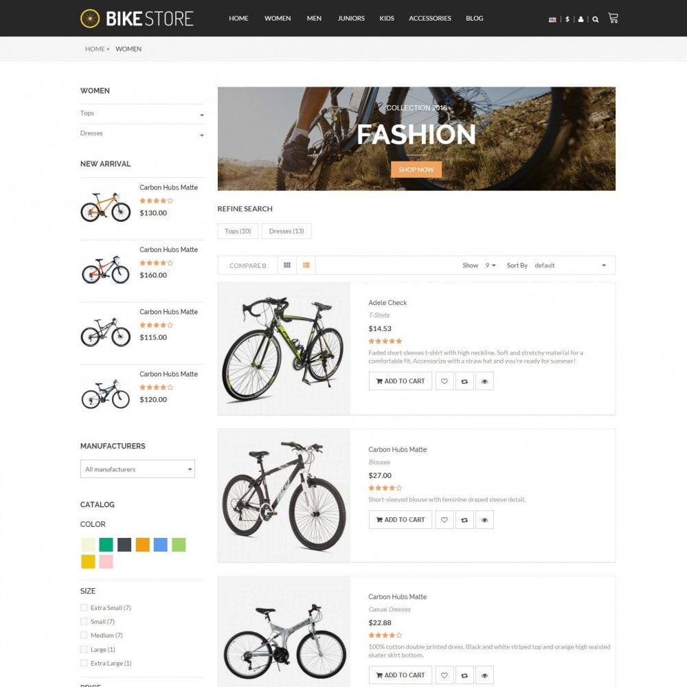 theme - Sport, Loisirs & Voyage - Bikes, Cycling Clothing & Bike Shoes Responsive Store - 4