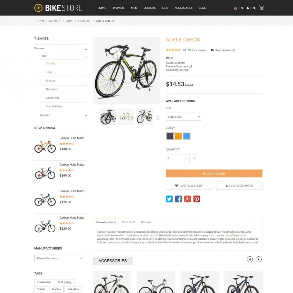 theme - Sport, Activiteiten & Reizen - Bikes, Cycling Clothing & Bike Shoes Responsive Store - 5