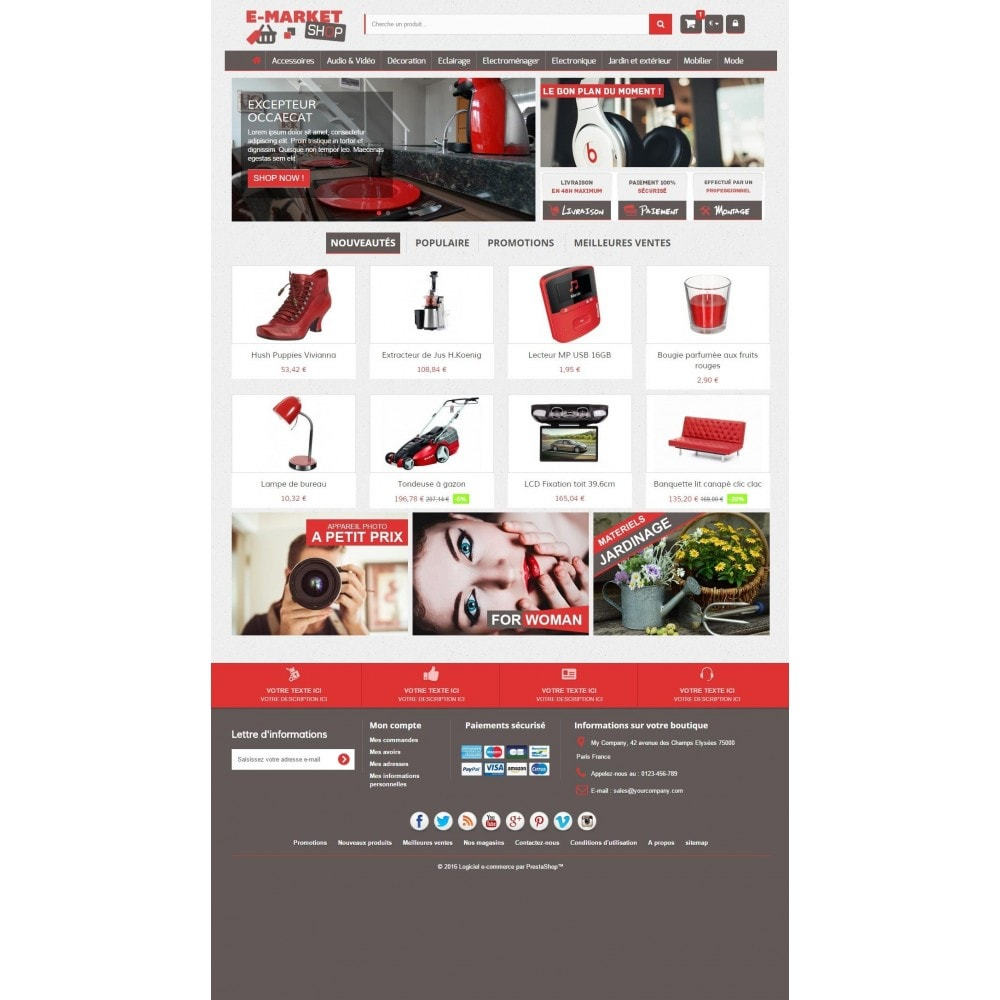 theme - Elektronica & High Tech - E-market 1.6 Responsive - 2
