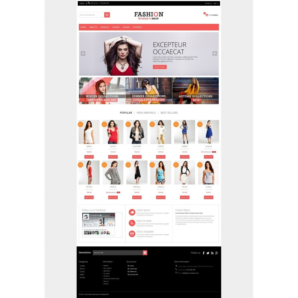 theme - Fashion & Shoes - Fashion Multipurpose HTML5 - 8