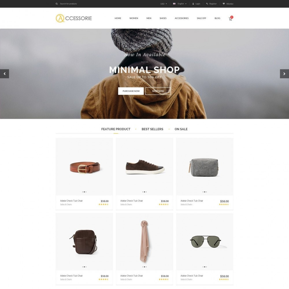theme - Fashion & Shoes - Minimal Accessorie Fashion & Shoes Responsive Store - 1