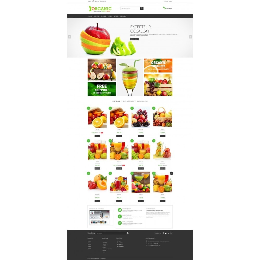 theme - Alimentation & Restauration - Organic Multishop  HTML5 - 5