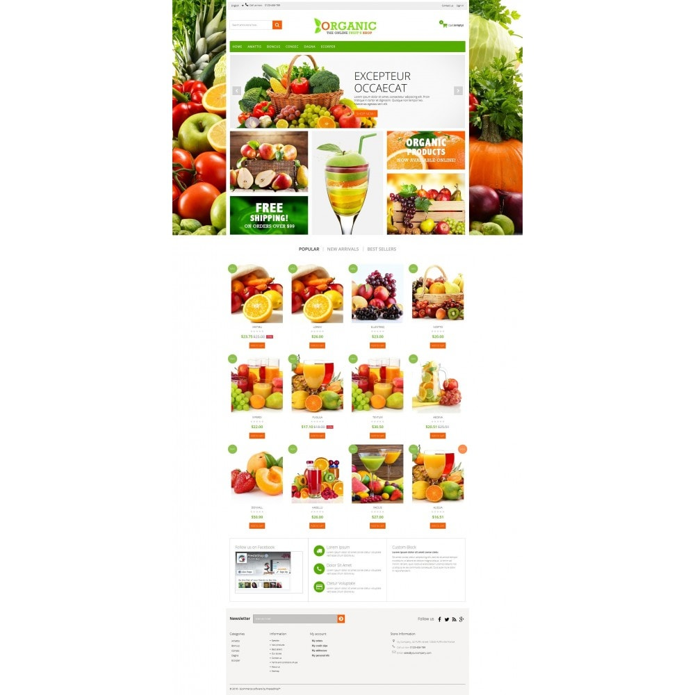 theme - Alimentation & Restauration - Organic Multishop  HTML5 - 6