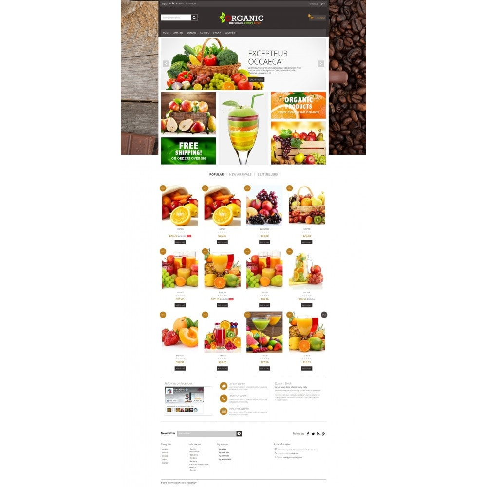 theme - Alimentation & Restauration - Organic Multishop  HTML5 - 7
