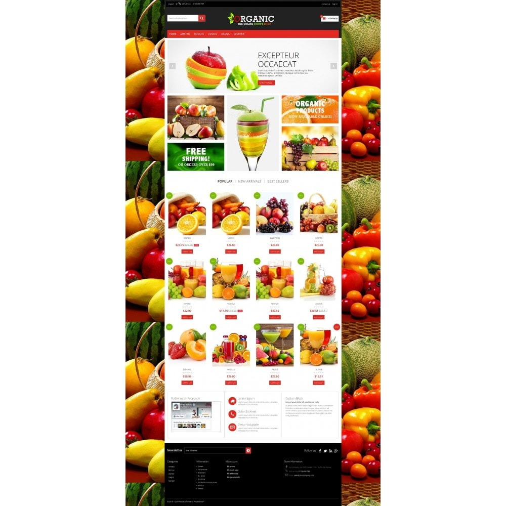 theme - Alimentation & Restauration - Organic Multishop  HTML5 - 8