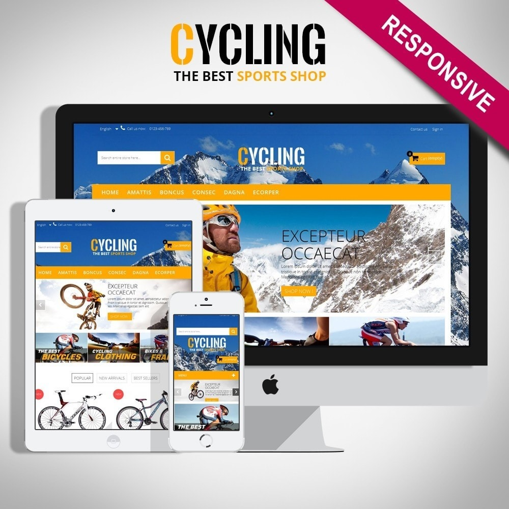 theme - Sports, Activities & Travel - Cycle Multishop HTML5 - 1