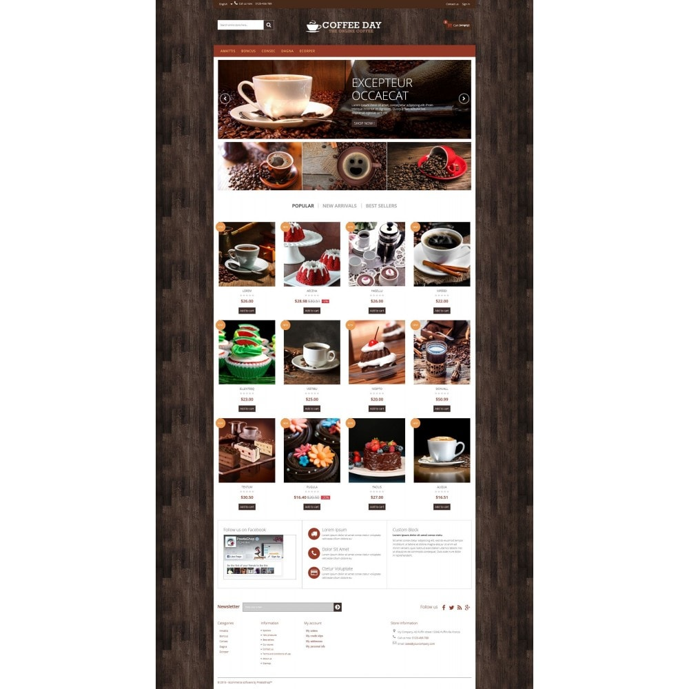 theme - Boissons & Tabac - Coffee & Cake Multipurpose HTML5 - 5