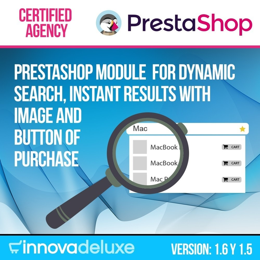 module - Processo de pedido - Dynamic quick search with image and add to cart icon - 1