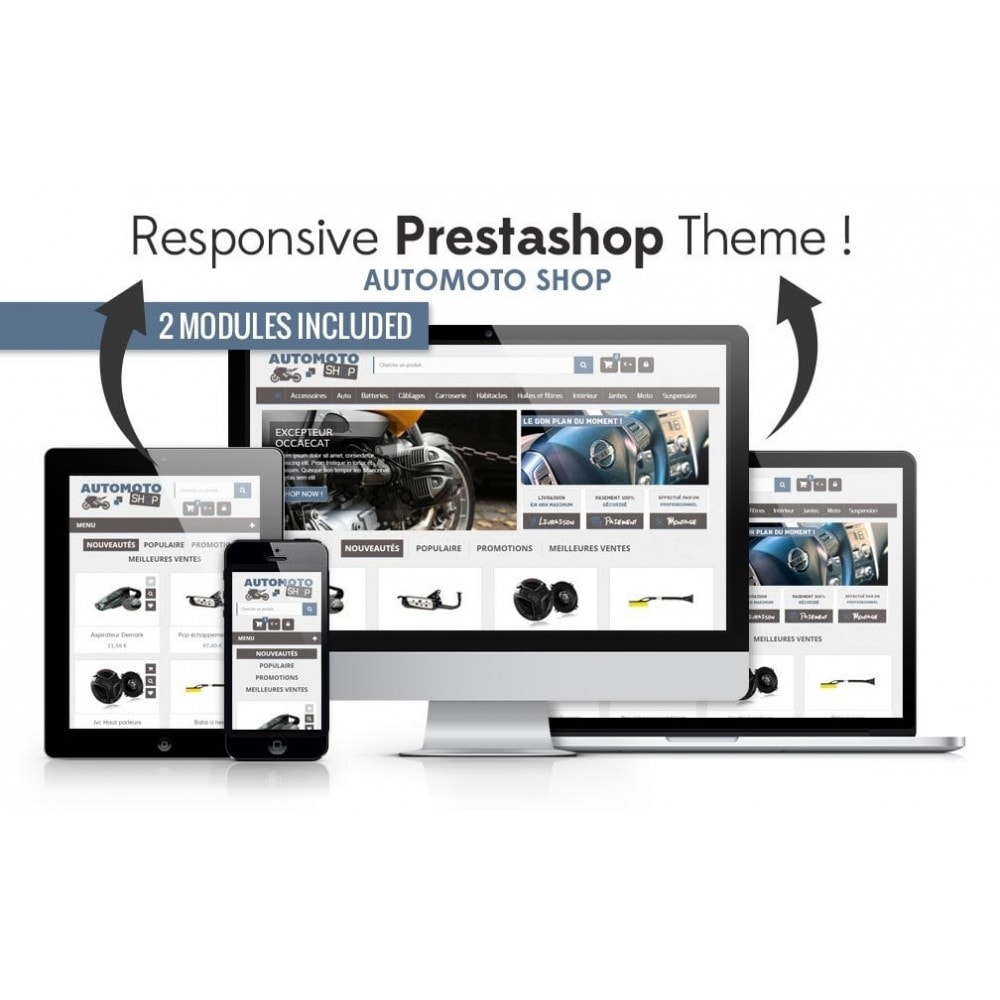 theme - Carros & Motos - Auto Moto Shop 1.6 Responsive - 1