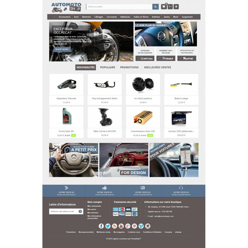 theme - Carros & Motos - Auto Moto Shop 1.6 Responsive - 2