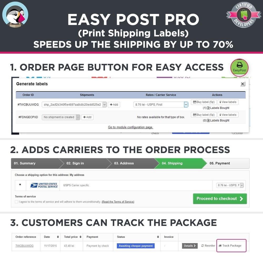 module - Préparation & Expédition - Easy Post Pro (DHL, GLS, DPD, Colissimo, RoyalMail etc) - 2