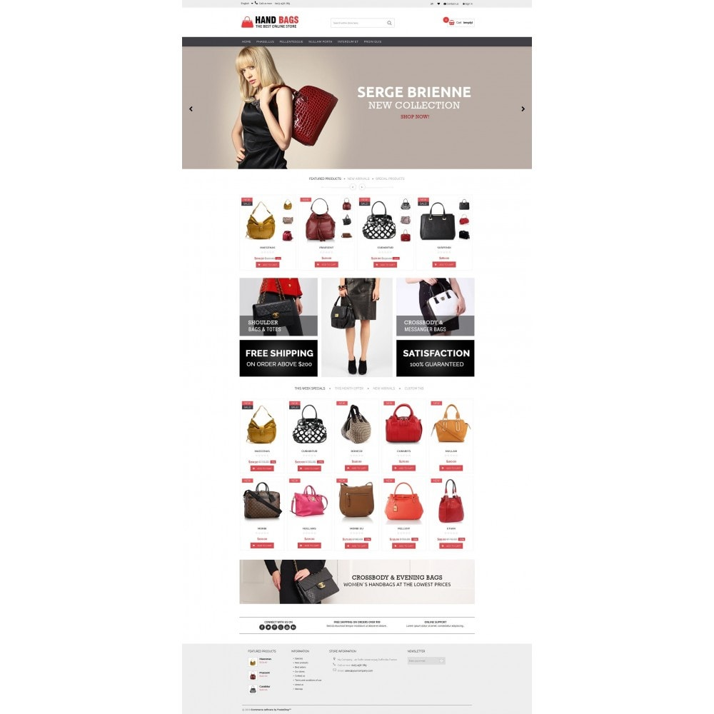 theme - Jewelry & Accessories - Hand Bags Multipurpose HTML5 - 2