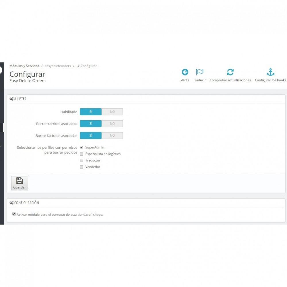 module - Gestión de Pedidos - Borrado de pedidos Plus - Elimina pedidos fácilmente - 2