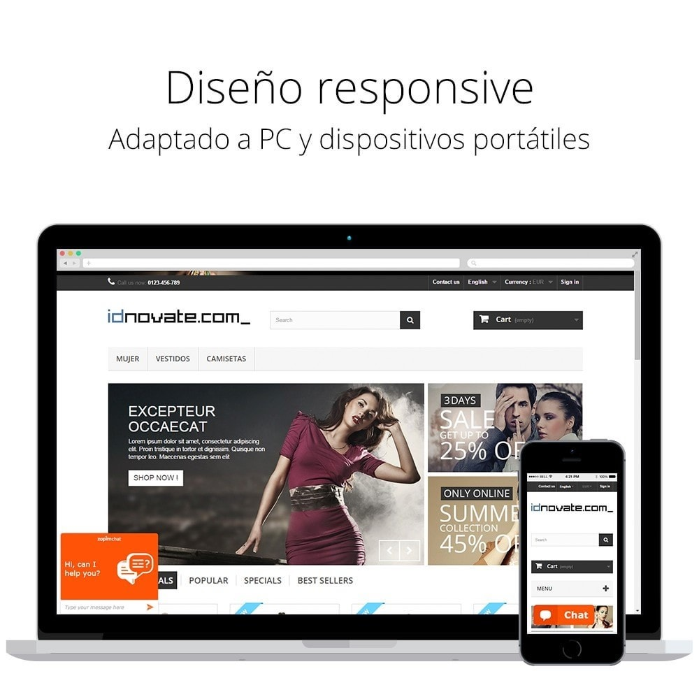 module - Asistencia & Chat online - Chat para Zendesk (Zopim) - Multiidioma, personalizable - 2
