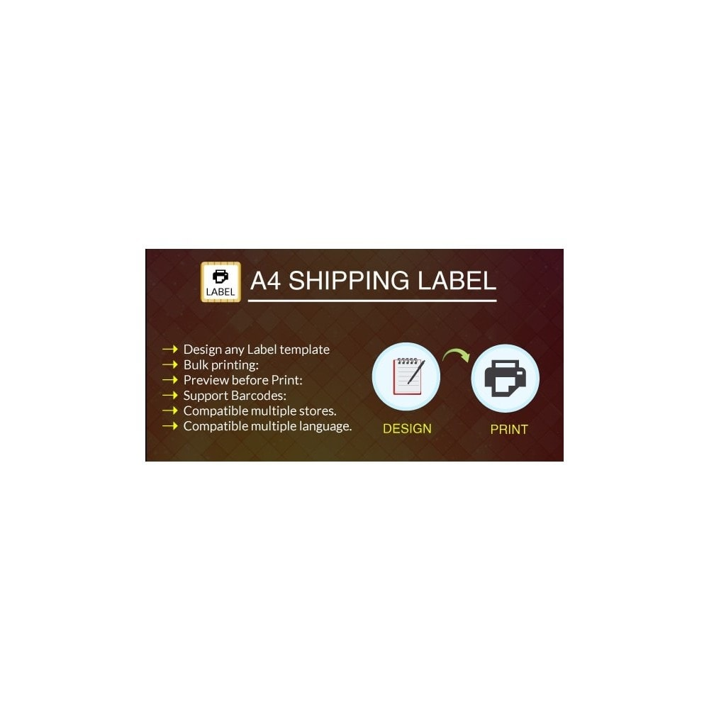 module - Preparation & Shipping - A4 Print Shipping Label Pro - 1