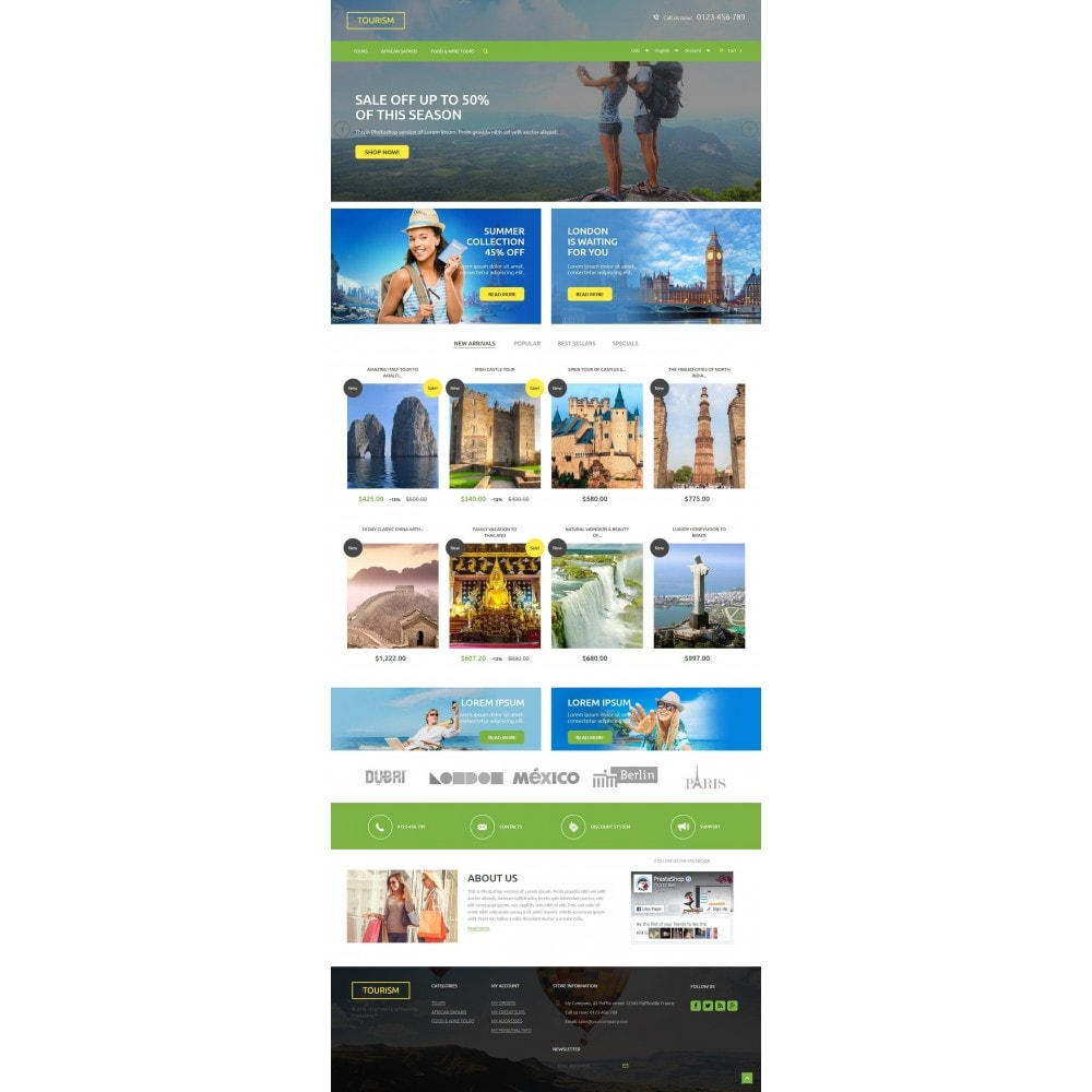 theme - Sport, Loisirs & Voyage - Tourism 1.6 Responsive - 2