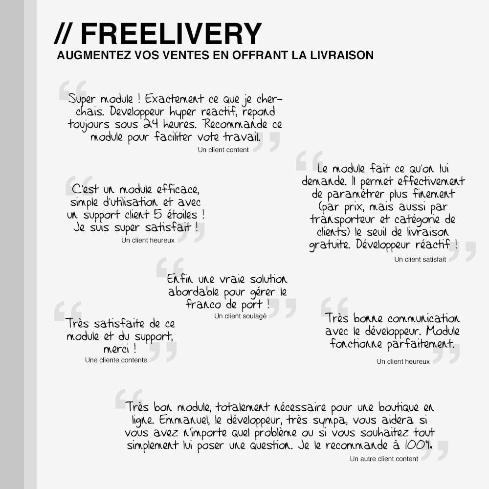 module - Frais de port - Freelivery : Frais de port gratuits - 4
