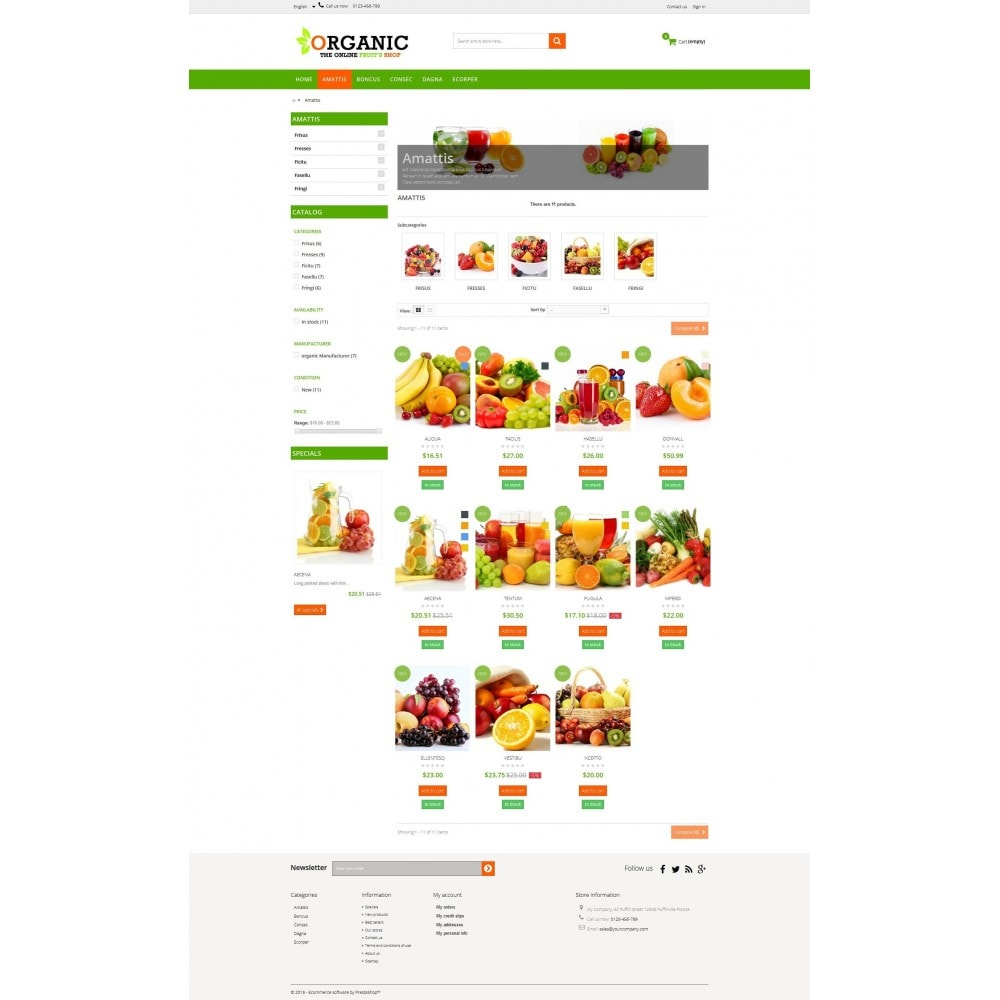 theme - Food & Restaurant - Organic Multishop  HTML5 - 3