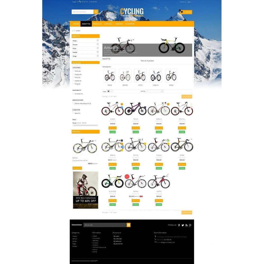 theme - Sports, Activities & Travel - Cycle Multishop HTML5 - 2