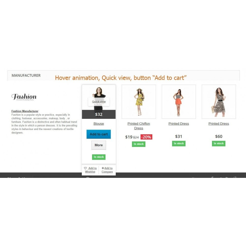 module - Marche & Produttori - Manufacturer info, logo and products on product page - 3