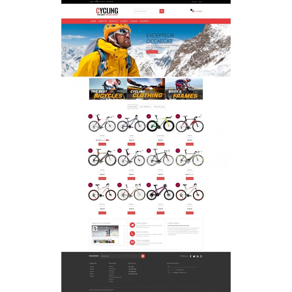 theme - Sports, Activities & Travel - Cycle Multishop HTML5 - 9