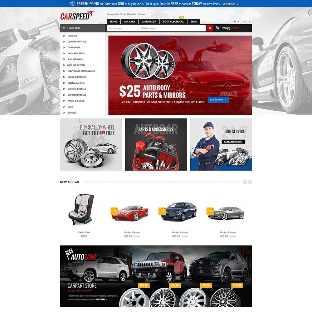 theme - Auto's & Motoren - Water Car Store - 2