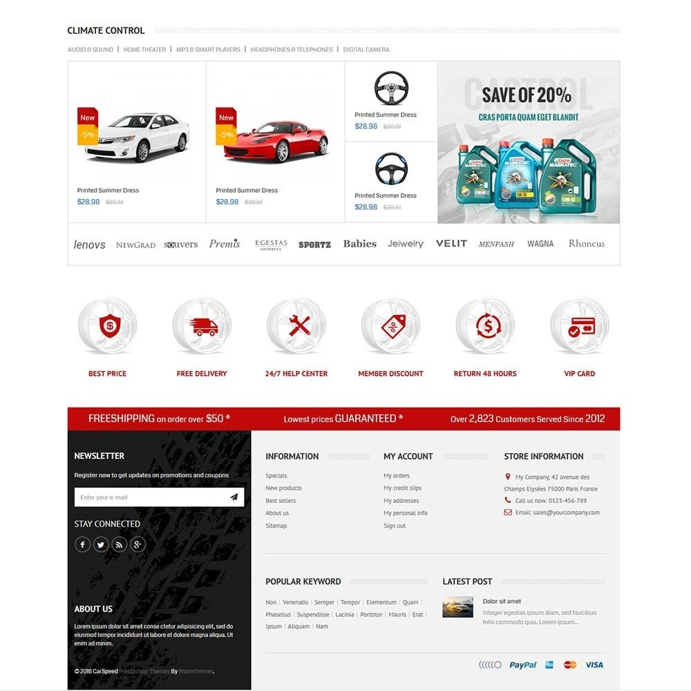 theme - Auto's & Motoren - Water Car Store - 3