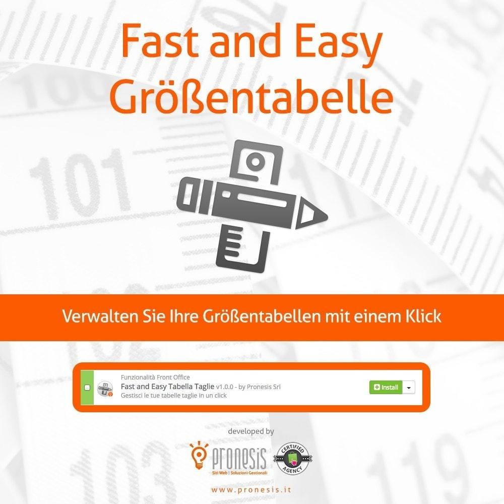 module - Größen & Einheiten - Fast and Easy Größentabelle - 1
